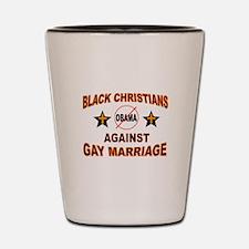 BLACK CHRISTIANS Shot Glass