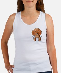Pocket Irish Setter Pup Women's Tank Top