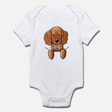 Pocket Irish Setter Pup Infant Bodysuit