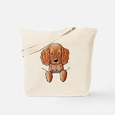 Pocket Irish Setter Pup Tote Bag