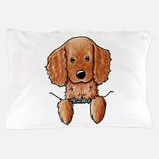 Pocket Irish Setter Pup Pillow Case