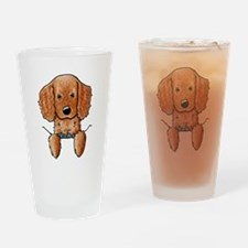 Pocket Irish Setter Pup Drinking Glass