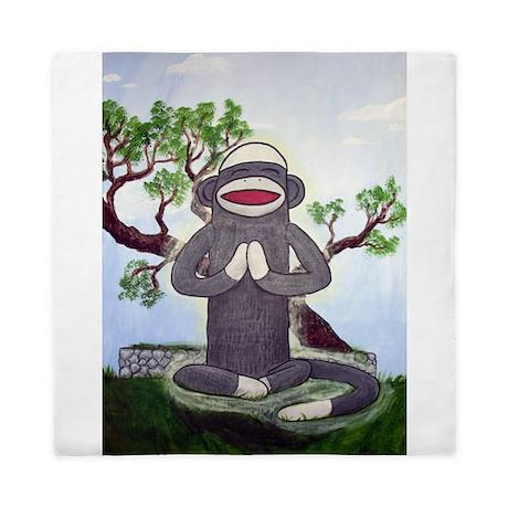 Sock Monkey Nirvana Queen Duvet