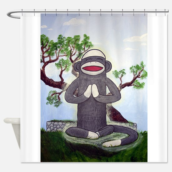 Sock Monkey Nirvana Shower Curtain