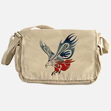 Metallic Grunge Eagle Tattoo Messenger Bag