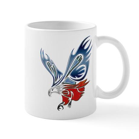 Metallic Grunge Eagle Tattoo Mug