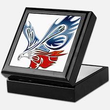 Metallic Grunge Eagle Tattoo Keepsake Box