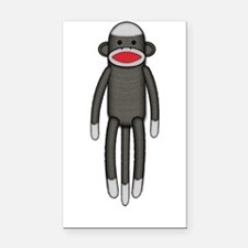 Plain Sock Monkey Rectangle Car Magnet