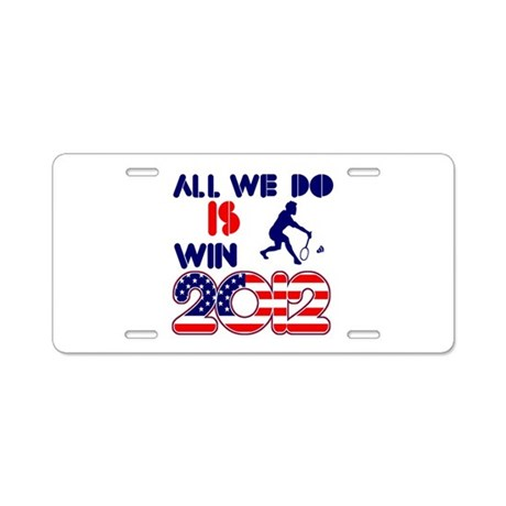USA Badminton Designs Aluminum License Plate