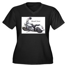 Cute Yamaha roadstar Women's Plus Size V-Neck Dark T-Shirt