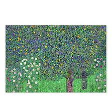 Klimt - Rosebushes Postcards (Package of 8)