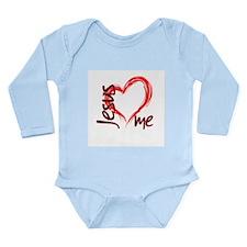 Jesus Loves Me Long Sleeve Infant Bodysuit