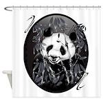 Panda grey tone PosterP.png Shower Curtain