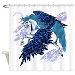 Winged Unicornand4x4Trans.png Shower Curtain