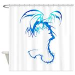 Lectrik Dragon Trans.png Shower Curtain