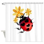 All Heart Ladybug Trans.png Shower Curtain