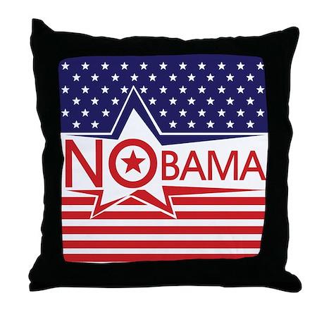 Just Say Nobama! Throw Pillow
