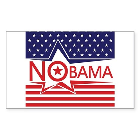 Just Say Nobama! Sticker (Rectangle)