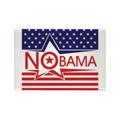 Just Say Nobama! Rectangle Magnet