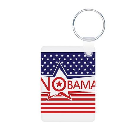 Just Say Nobama! Aluminum Photo Keychain