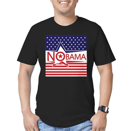 Just Say Nobama! Men's Fitted T-Shirt (dark)