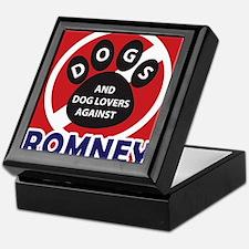 Dogs hate Romney! Keepsake Box