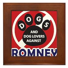 Dogs hate Romney! Framed Tile