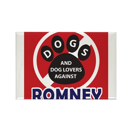 Dogs hate Romney! Rectangle Magnet