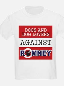 Dog Lovers Unite Against Romney! T-Shirt