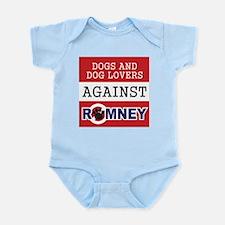 Dog Lovers Unite Against Romney! Infant Bodysuit