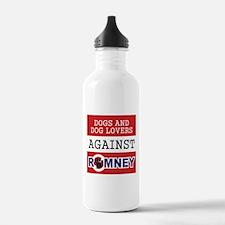 Dog Lovers Unite Against Romney! Water Bottle