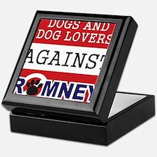 Dog Lovers Unite Against Romney! Keepsake Box