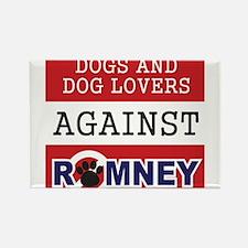 Dog Lovers Unite Against Romney! Rectangle Magnet