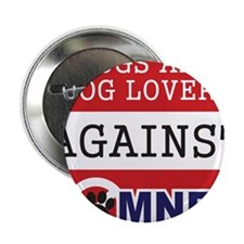 "Dog Lovers Unite Against Romney! 2.25"" Button"