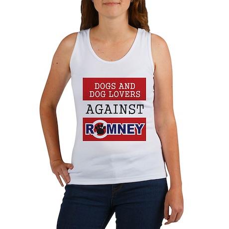 Dog Lovers Unite Against Romney! Women's Tank Top