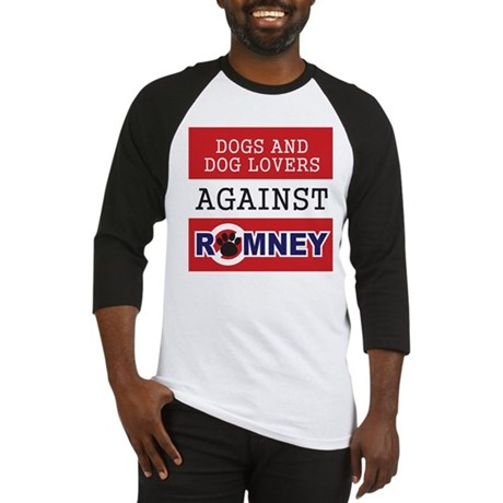 Dog Lovers Unite Against Romney! Baseball Jersey