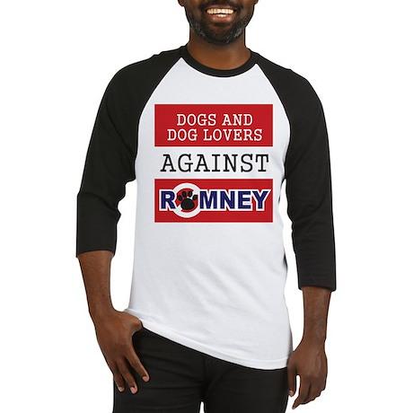 Dog Lovers Unite Against Romney! Baseball Jersey