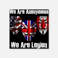 "We Are Legion - Anonymous Square Sticker 3"" x 3"""