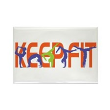 Keep Fit Rectangle Magnet