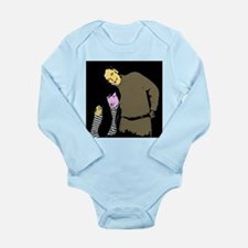 Alan and Meaw Long Sleeve Infant Bodysuit