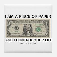 I Am a Piece of Paper Tile Coaster