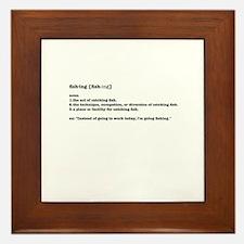 Definition of fishing Framed Tile