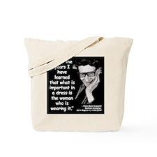 Laurent Dress Quote 2 Tote Bag