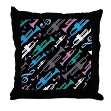 Fun Trumpet Player Gift Throw Pillow