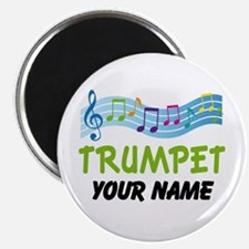 Personalized Trumpet Music Magnet