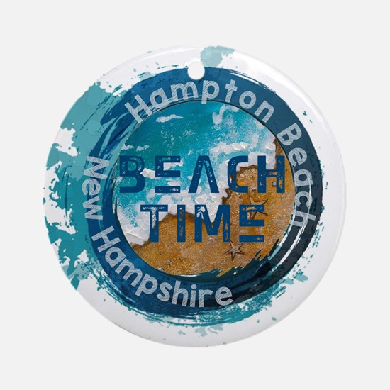 New Hampshire - Hampton Beach Round Ornament