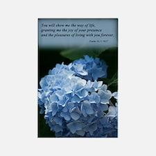 psalm 16 hydrangea Rectangle Magnet