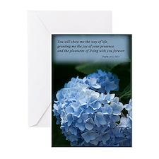 psalm 16 hydrangea Greeting Cards (Pk of 10)