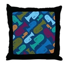 Tuba Band Gift Throw Pillow