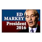Ed Markey President 2016 Bumper Sticker